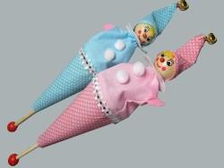 - Çubuklu Pembe Palyaço