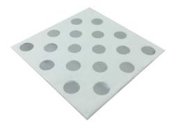 - Gümüş Puantiyeli Beyaz Peçete (33x33 cm) 20'li Paket