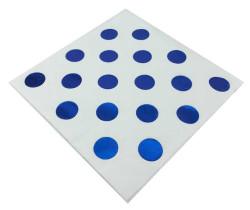 - Mavi Puantiyeli Beyaz Peçete (33x33 cm) 20'li Paket