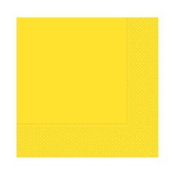 - Desenli Sarı Peçete (33x33 cm) 20'li Paket