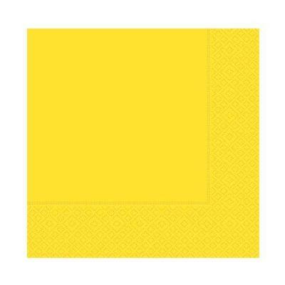 Desenli Sarı Peçete (33x33 cm) 20'li Paket