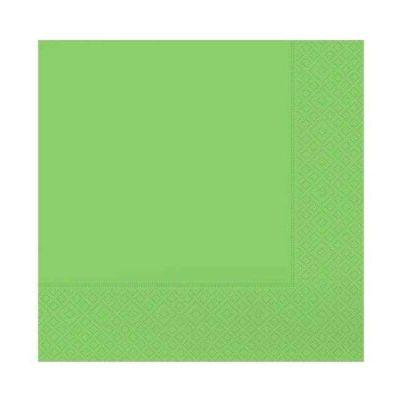 Desenli Yeşil Peçete (33x33 cm) 20'li Paket