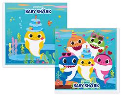 - Peçete Kağıt Baby Shark 33x33cm Pk:16 Kl:20