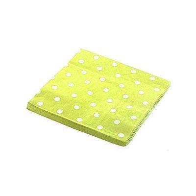 Puantiyeli Sarı Peçete (33x33 cm) 20'li Paket