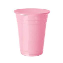 - Pembe Plastik Büyük Meşrubat Bardağı (266 cc) 8'li Paket
