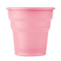 - Pembe Plastik Meşrubat Bardağı (180 cc) 25'li Paket