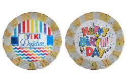 - Metalize Süslü Çift Taraflı İyiki Doğdun/Happy Birthday Pinyata