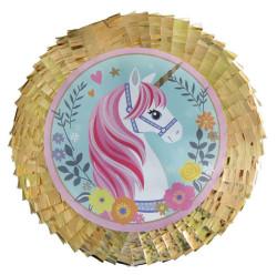 - Metalize Süslü Unicorn Pinyata