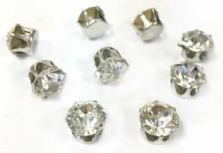 - Pırlanta Modeli Süsleme Taşı Gümüş 10 mm