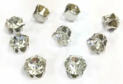 - Pırlanta Modeli Süsleme Taşı Gümüş 8 mm