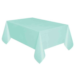 - Mint Yeşili Plastik Masa Örtüsü (137x270 cm) 1'li Paket