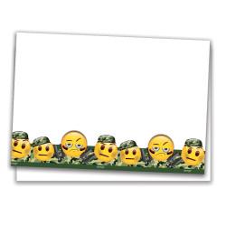 - Emoji Kamuflaj Plastik Masa Örtüsü (120x180 cm) 1'li Paket