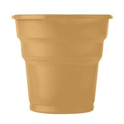 - Altın Plastik Meşrubat Bardağı (180 cc) 25'li Paket
