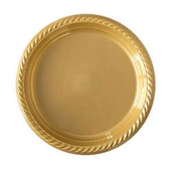 - Plastik Altın Tabak (22cm) 25'li Paket