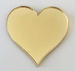 - Pleksi Figür 1mm Yapışkanlı 2x2 Cm Kalp Altın P50