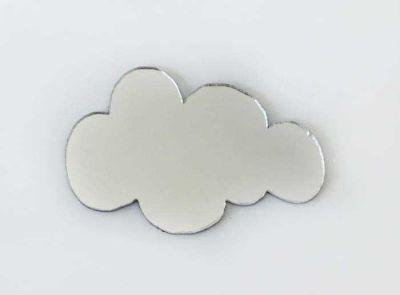 Pleksi Figür 1mm Yapışkanlı 3x2 Cm Bulut Gümüş P25