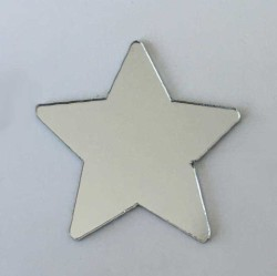 - Pleksi Figür 1mm Yapışkanlı 3x3cm Yıldız Gümüş P25