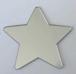 - Pleksi Figür 1mm Yapışkanlı 4x4cm Yıldız Gümüş P25
