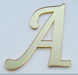 - Yapışkanlı Pleksi Harf 1mm 4x4 cm Altın A