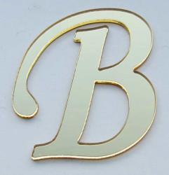 - Yapışkanlı Pleksi Harf 1mm 4x4 cm Altın B