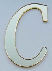 - Yapışkanlı Pleksi Harf 1mm 4x4 cm Altın C