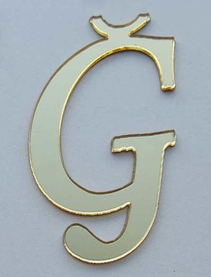 Yapışkanlı Pleksi Harf 1mm 4x4 cm Altın Ğ