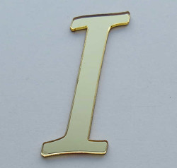 - Yapışkanlı Pleksi Harf 1mm 4x4 cm Altın I