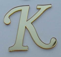 - Yapışkanlı Pleksi Harf 1mm 4x4 cm Altın K
