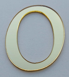 - Yapışkanlı Pleksi Harf 1mm 4x4 cm Altın O