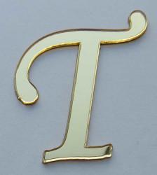 - Yapışkanlı Pleksi Harf 1mm 4x4 cm Altın T