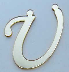 - Yapışkanlı Pleksi Harf 1mm 4x4 cm Altın Ü