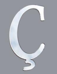 - Yapışkanlı Pleksi Harf 1mm 4x4 cm Gümüş Ç