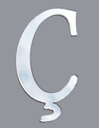 Yapışkanlı Pleksi Harf 1mm 4x4 cm Gümüş Ç - Thumbnail