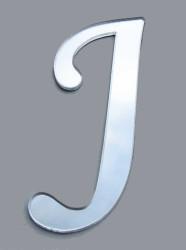 - Yapışkanlı Pleksi Harf 1mm 4x4 cm Gümüş J