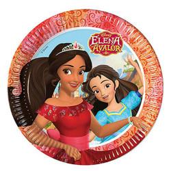 - Prenses Elena Kağıt Tabak (23 cm) 8'li Paket