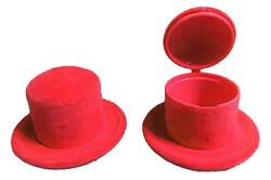 - Şapka Kutu Flok Kaplama Kırmızı Pk:10-400