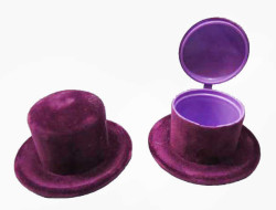 - Flok Kaplama Kutu Şapka Mor