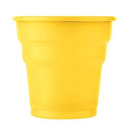 - Sarı Plastik Meşrubat Bardağı (180) 25'li Paket