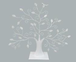 Şeker Ağacı Kuşlu Beyaz - Thumbnail