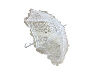 Şemsiye Dantel İşlemeli Beyaz