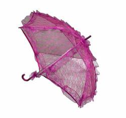 - Şemsiye Dantel İşlemeli Fuşya