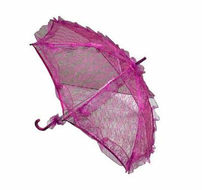 Şemsiye Dantel İşlemeli Fuşya