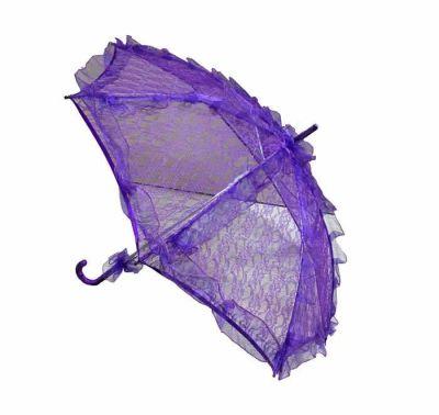 Şemsiye Dantel İşlemeli Mor