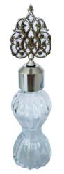 - Çizgili 60cc Şişe Kubbesi Plastik Gümüş