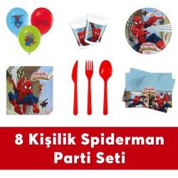 - Spiderman Doğum Günü Seti Eko Set 8 Kişilik