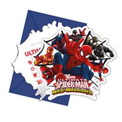- Spiderman Savaşçı Davetiye 6'lı Paket