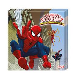 - Spiderman Savaşçı Kağıt Peçete (33x33 cm) 20'li Paket