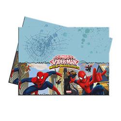 - Spiderman Savaşçı Plastik Masa Örtüsü (120x180 cm) 1'li Paket