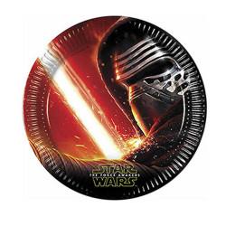 - Star Wars Güç Uyanıyor Karton Tabak (23 cm) 8'li Paket