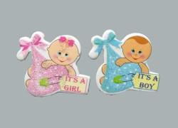 - Bebek Bohçalı Mavi Sticker